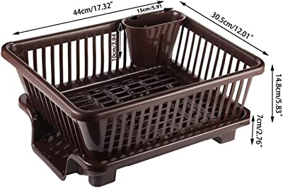FOCUS PRODUCT Focus New 3 in 1 Large Sink Set Dish Rack Drainer Drying Rack Washing Basket with Tray for Kitchen