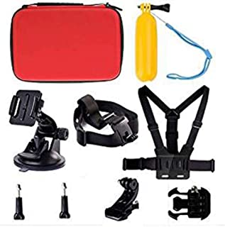 Navitech 50-in-1 Action Camera Accessories Combo KIt with EVA Case Compatible with The DROGRACE WP350 Sports DV Camera WiFi Video Action Camera