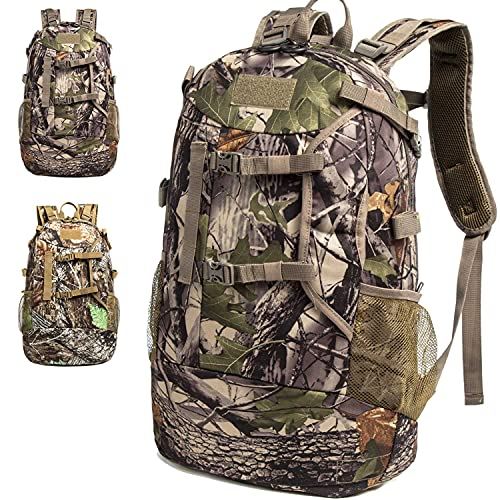 MERALIAN Hunting Backpack,Outdoor Hunting Daypack for Bow or Rifle with Rain Cover. (Green)