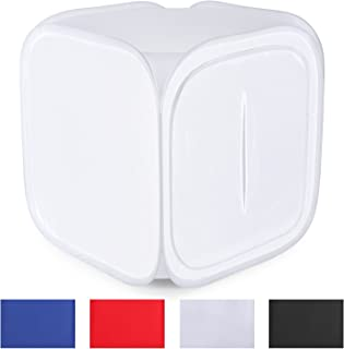 Neewer 36x36 inch/90x90 cm Photo Studio Shooting Tent Light Cube Diffusion Soft Box Kit with 4 Colors Backdrops (Red Dark Blue Black White) for Photography