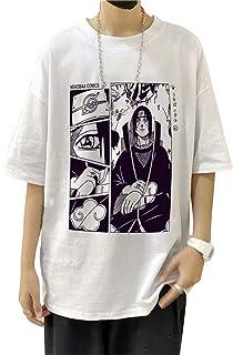 B30,L 3D Uchiha Itachi Sasuke Akatsuki Anime Cosplay T Shirt Casuale Harajuku Naruto Manica Corta Tee Maglia Shirt Camicia Camicetta Tops per Adulto Bambino LOOVEE Maglietta Naruto per Uomo Donna