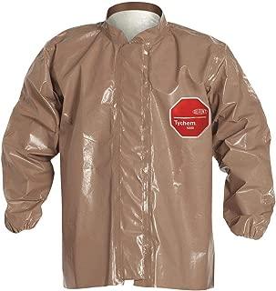 Dupont Tan Tychem 5000 Disposable Jacket, Size: L L Tan Tychem(R) 5000 C3670TTNLG000600-1 Each