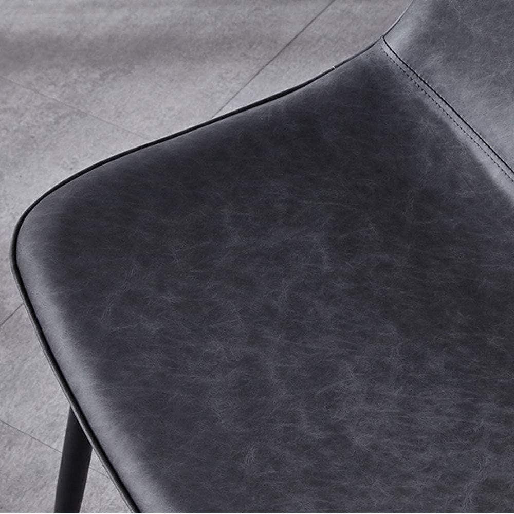 KST Chaise de Salle à Manger en Fer forgé, Chaise en Cuir imperméable et antisalissure, sans accoudoir, adaptée à la Salle à Manger, au Salon, à l'hôtel, au Bar-café D
