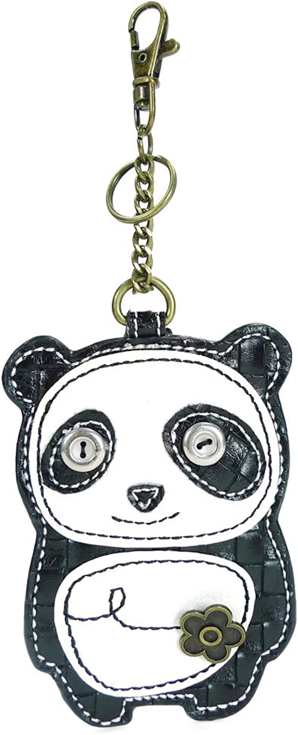 Chala Key Fob Coin Purse Dada Panda, Black White