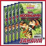 SAHAWA Rote Mückenlarven gezüchtet Frostfutter 5X 100g Blister + 1 Blister Daphnien gratis, verpackt mit Trockeneis -78°C, Aquarium, Aquaristik, Fischfutter, Frostfutter