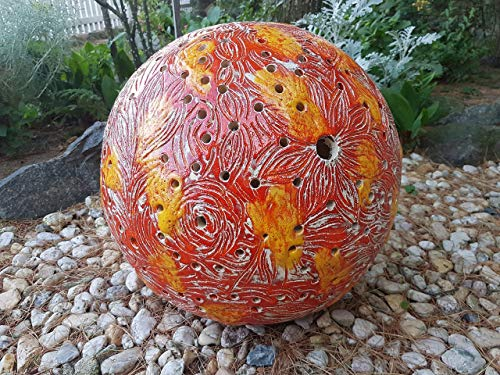 Keramikkugel, Kugelleuchte, Gartenkugel, Gartenlicht, 40 cm