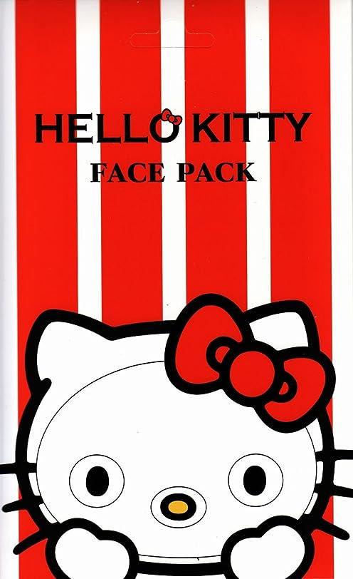 ケントタイトゲートハローキティ なりきりフェイスパック バラの香り キティになれるフェイスパック