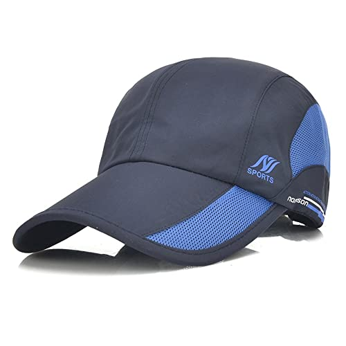 YING LAN Unisex Sun Hat Folding Portable Outdoor Hat Adjustable Waterproof  Quick Dry Sports Baseball Cap dec68b77271