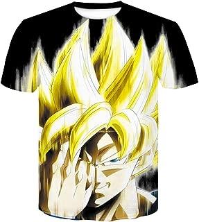 LALAWO Printed Cartoon T-Shirt Top T-Shirt Large Size Dragon Ball Z T-Shirt Men's Super Saiyan Super Instinct Children Goku Vegeta (Color : #20, Size : XL)