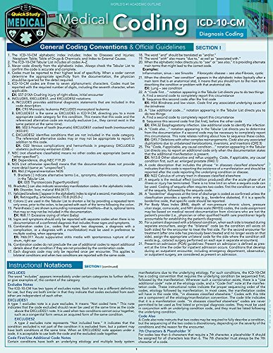 Medical Coding ICD-10-CM: a QuickStudy Laminated Reference Guide