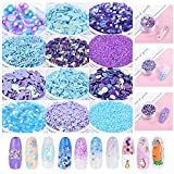 Bonnie-Sam 12 Boxes Nail Art Sequins Glitter...