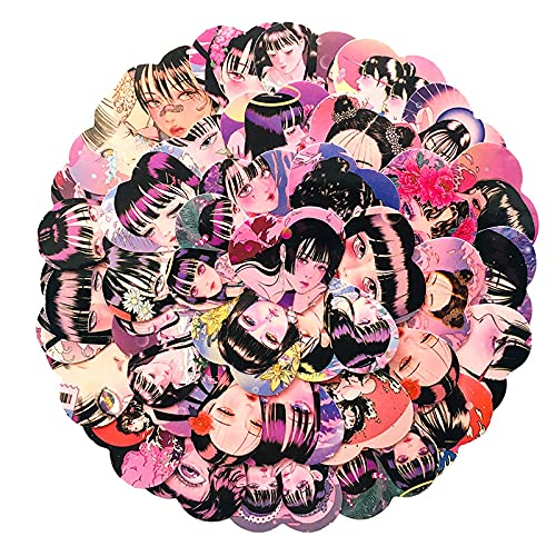 LMY 34 unids Ko r e an st y le ps yc hedelic chica pegatinas autoadhesivas amor avatar rosa púrpura serie equipaje papelería mano cuenta pegatinas