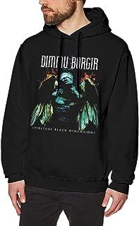 IDOJGYUB Dimmu Eonian Borgir Funny Mens Sweater Hooded Sweatshirt Black