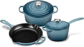 Le Creuset Signature Cast Iron 5-piece Marine Cookware Set