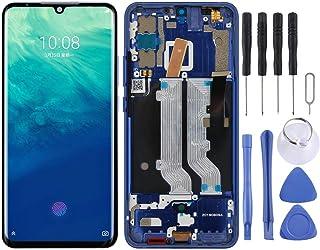 Cell Phone LCD Display AMOLED Material LCD-skärm och digitizer Fullständig montering med ram för ZTE AXON 10 PRO Phone Tou...