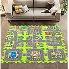 """Meitoku floor mats for children Jigsaws Baby Puzzle Play Mats Play Foam Floor Tiles For Kids Interlocking Foam Mats 9pcs/bag,Each piece=12""""x12""""Thick 3/8"""""""