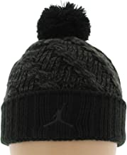 Jordan Youths Knit Cable Black/Charcoal Grey Beanie Hat size 8/20