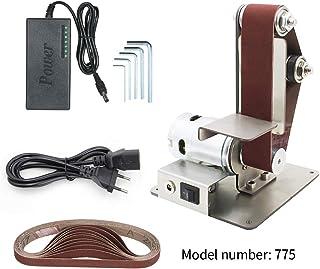 Lijadora banda amoladora mini,lijadora de banda eléctrica Máquina de pulido mesa de afilador de ángulo fijo con 10 cinturón de arena