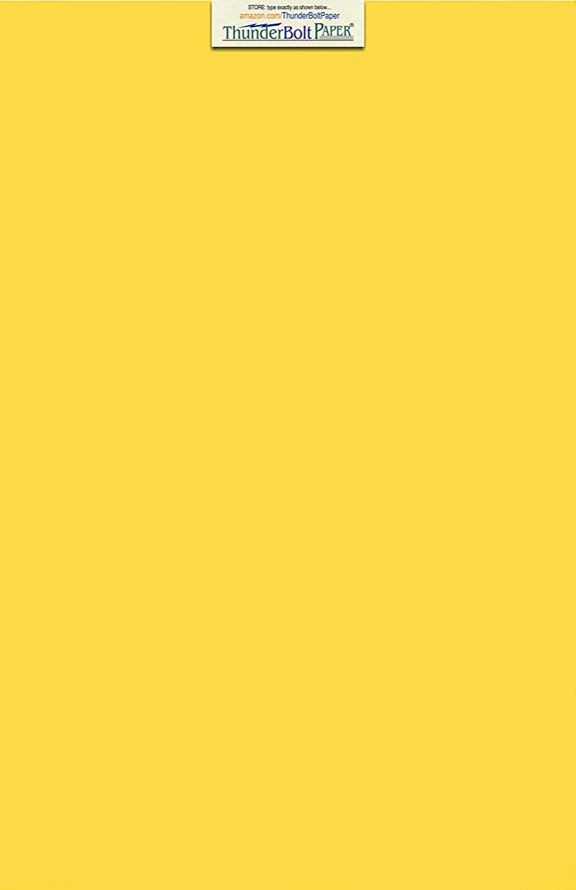 100 Bright Golden Yellow 65lb Cover Card Paper - 11