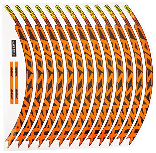 "Ecoshirt 54-RLYL-H00L Adesivi Stickers cerchione Rim Mavic Crossmax SL Pro 27,5"" Am50 MTB Downhill, Arancione 26"""
