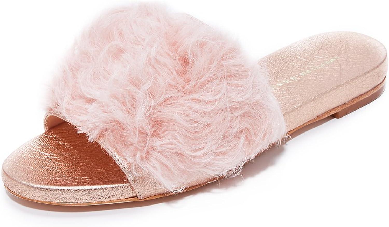 Loeffler Randall kvinnor Domino Domino Domino Slide Sandal (Sherling) Slide Sandal  upp till 60% rabatt
