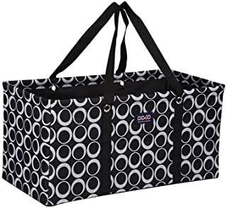 All Purpose Utility Tote/Utility tote/Large tote/Beach Bag/Reusable Shopping Bags (Black/White Rings-R-009, 22