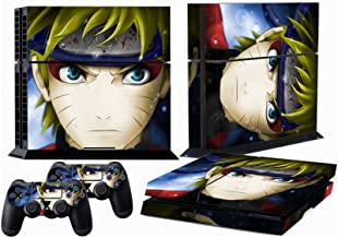Ps4 Skins Naruto Sage Decals Vinyl Sticker Cover for Playstation 4 Console and Two Controller