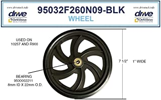 Drive Replacement Wheel for Rollator Model 10257 (Wheel Black 7.5