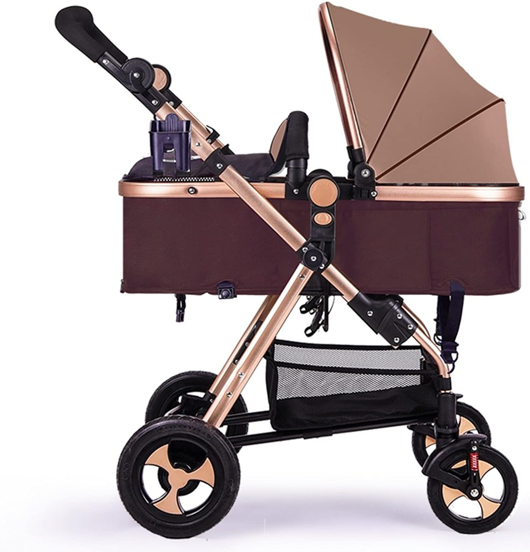 Kinderwagen, hochkarätige Kinderwagen, können Faltdämpfung Auto sitzen, Neugeborene Kinderwagen ( Farbe   Braun ) B076972VHS Schenken Sie Ihrem Kind eine glückliche Kindheit   | Guter Markt