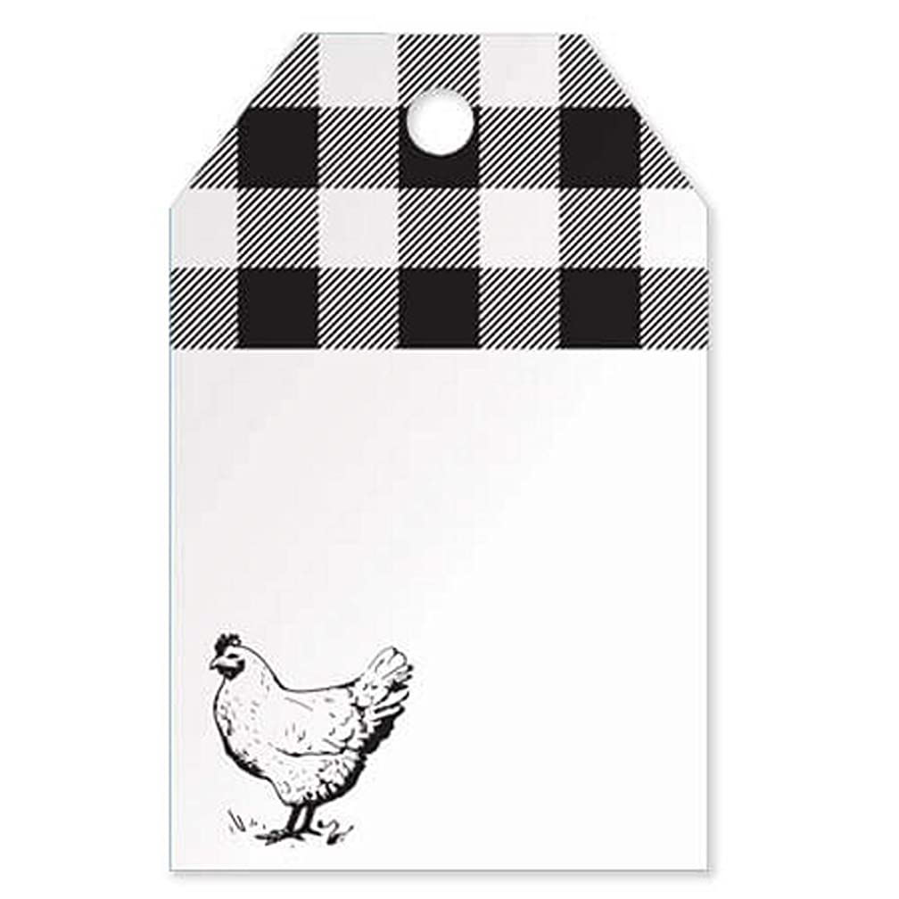Farmhouse Chicken Printed Gift Tags - 3 1/2 x 2 1/4in. (50)