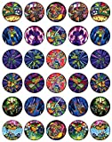 30 x Edible Cupcake Toppers Themed of Rise_Of_The_Teenage_Mutant_Ninja_Turtles Collection of Edible Cake Decorations   Uncut Edible on Wafer Sheet