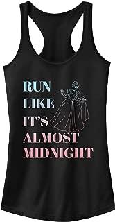 Cinderella Juniors' Run Like Midnight Racerback Tank Top