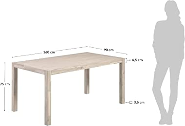 Kave Home - Table Alen 160 x 90 cm en Bois d'acacia Massif