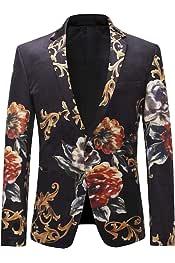 Amazon.es: flores estampado - Trajes y blazers / Hombre: Ropa
