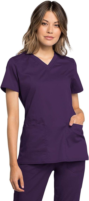 直営ストア Workwear Revolution Tech 売買 Women V-Neck Scrubs WW770AB Top