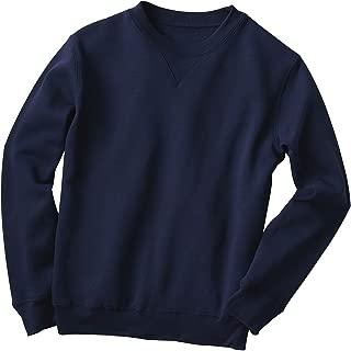 Fleece Crewneck Sweatshirt, Navy, XL Petite