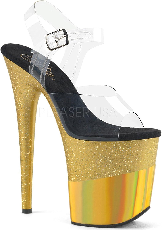 Pleaser Womens FLAMINGO-808-2HGM C GGHG Sandals