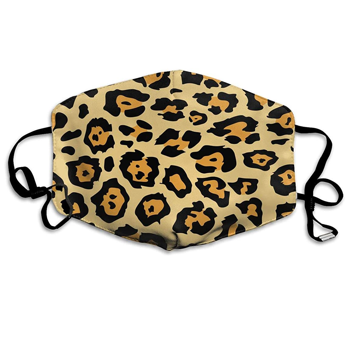 Hongclever Reusable Mouth Face Masks Leopard Earloop Mask Washable Outdoor Anti-Dust Allergy Windproof