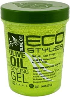 ECOCO Eco Style Gel, Olive 32 oz (Pack of 3)