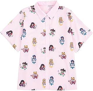 がルーズ セーラームーン プリント シャツ 半袖 可愛い 柄 おしゃれ トップス