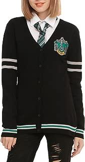 Harry Potter Slytherin Girls Cardigan Black Large