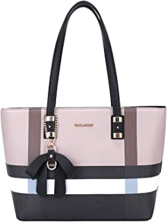 Gallantry - Grand Sac à Main Femme Elégant - Sac Cours Lycée Format A4 Taille XL - Cabas Shopping Rayures Multicolore - Sa...