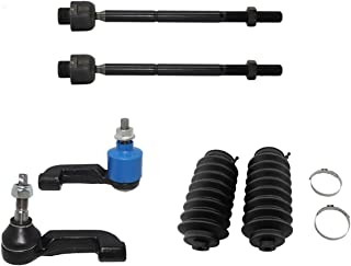 Detroit Axle - 6pc Steering Kit - Inner & Outer Tie Rod Ends & Rack and Pinion Boots for - 2002 2003 2004 Jeep Liberty