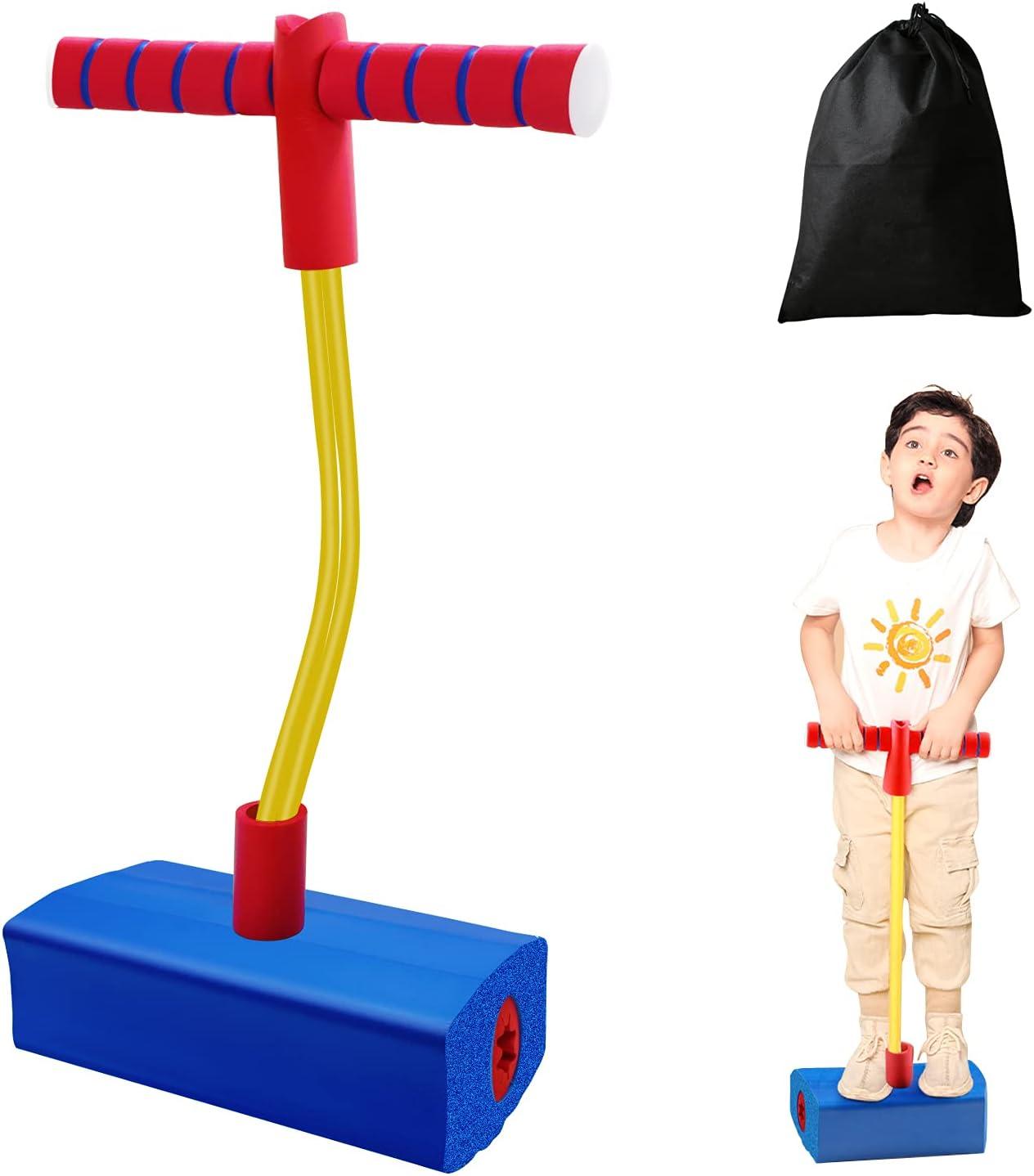 Foam Pogo Jumper,Pogo Jumper de Espuma,Jumper de Espuma Pogo Stick,Pogo Stick para Niños,Saltador de Pogo de Espuma para Niños/Niñas Saltar Saltar Juguete