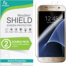 (2-Pack) RinoGear Screen Protector for Samsung Galaxy S7 Case Friendly Samsung Galaxy S7 Screen Protector Accessory Full Coverage Clear Film