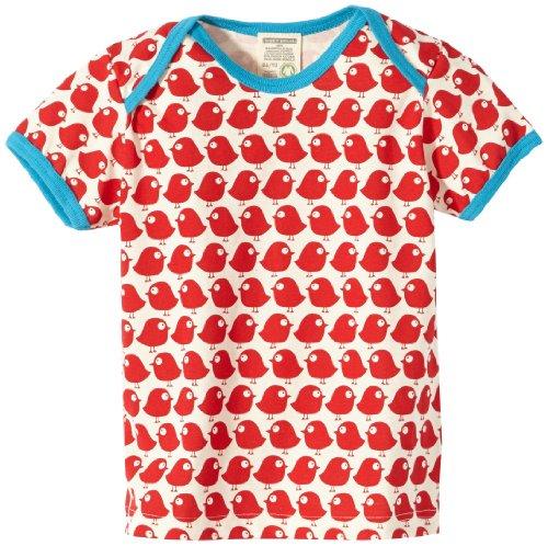 Loud + Proud Unisex - Baby T-Shirts Tierdruck 204, Rot (tomato), 110/116