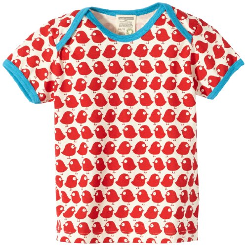 Loud + Proud Unisex - Baby T-Shirts Tierdruck 204, Rot (tomato), 86/92
