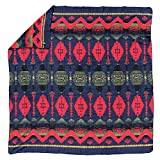 Beacon Authenic Reproduction of Native American Indian Design Trade Classic Blanket (Full/Queen, Red)