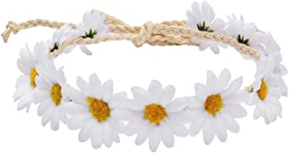 Kewl Fashion Sunflower Headband Crown Garland Bridal Festivals Flower Wreath Headpiece