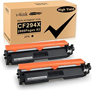 V4INK 2PK Compatible Toner Cartridge Replacement for HP 94X 94A CF294X CF294A Toner Cartridge High Yield Black Ink for HP ...